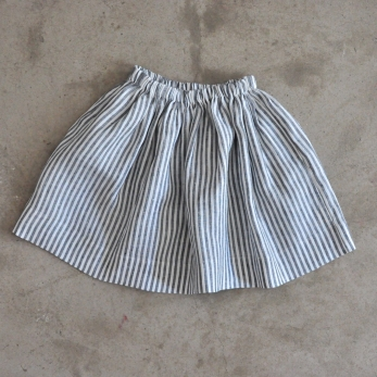 Uniform skirt, light stripes linen