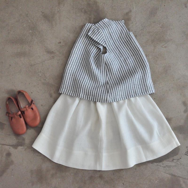 3be8782bb4 ... Skirt, white heavy linen ...