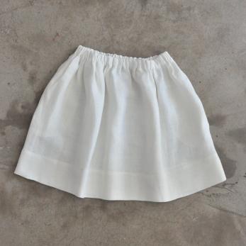 Jupe, lin épais blanc