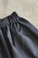 Jupe, lainage gris sombre