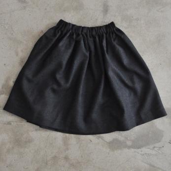 Skirt, dark grey woolblend