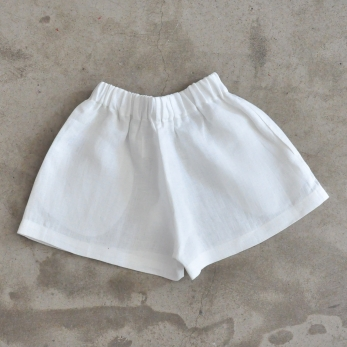 Uniform short, white linen