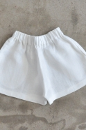 Short Uniforme, lin blanc