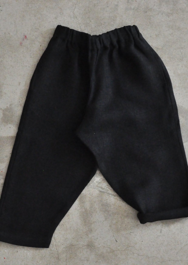 Uniform trousers, thick black linen