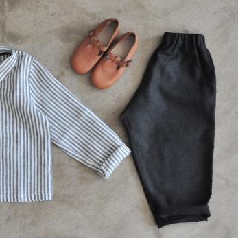 Classic trousers, dark grey woolblend