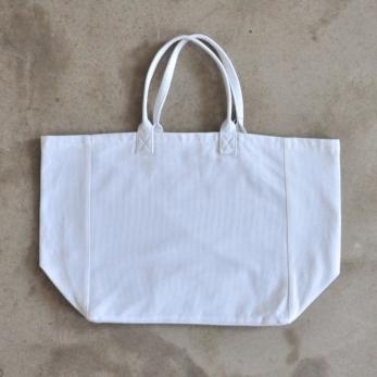 Cabas carré doublé, coton blanc