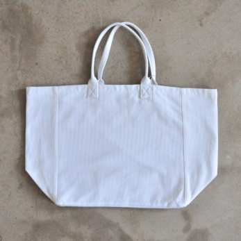 Squared bag with lining, white cotton