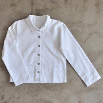 Veste, coton blanc