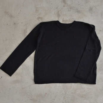 Pull mixte, maille noire