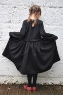 Short sweater, dark grey knit