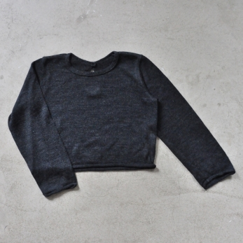 Short sweater, dark grey knit