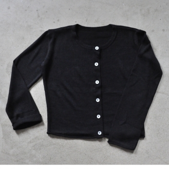 Cardigan, black knit