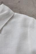 Uniform jacket, thick white linen