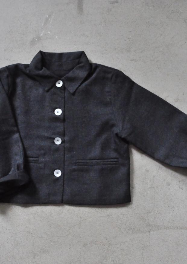 Jacket, dark grey woolblend