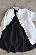 Manteau, lin épais blanc
