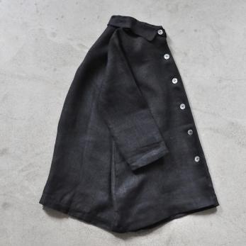 Uniform coat, thick black linen