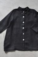 Manteau Uniforme, lin épais noir