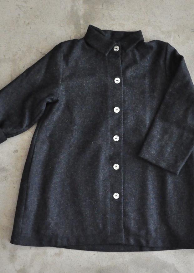 Manteau, drap gris
