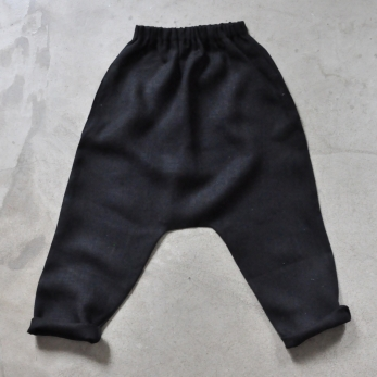 Saroual trousers, heavy black linen