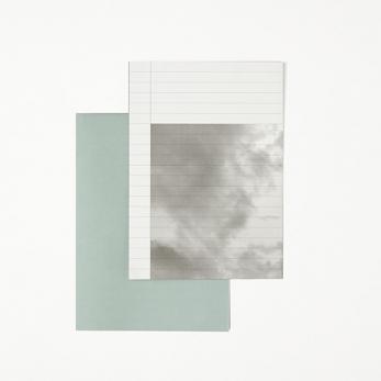 Papier à lettre, bleu brume