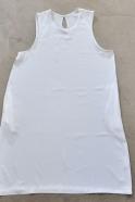 Robe évasée sans manche, soie blanche