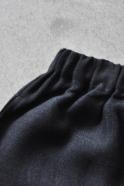 Uniform short, thick black linen