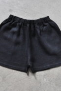 Uniform short, thick black linen