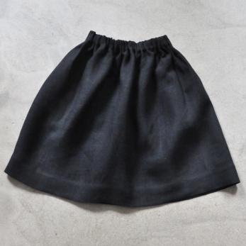 Uniform skirt, thick black linen