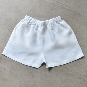 Short Uniforme, lin blanc
