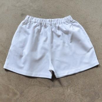 Short, coton blanc