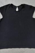 Blouse manches courtes, soie noire