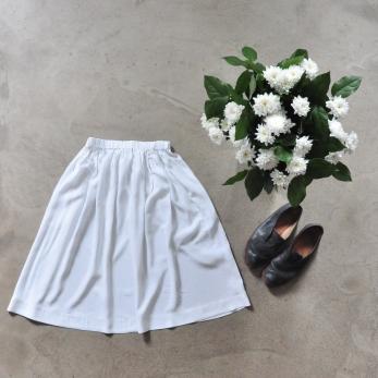 Skirt, white silk