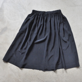 Skirt, black silk