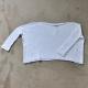 Sweater JOA, white cotton
