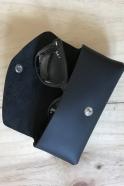 Etuis à lunettes LEON, cuir noir
