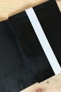 Computer or ipad case DOUDI, black leather