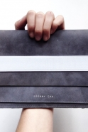 Computer or ipad case DOUDI, grey leather