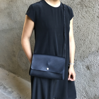 sac LUX, cuir noir
