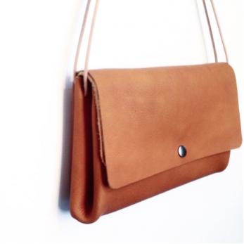 sac LUX, cuir camel