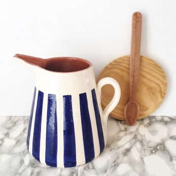 blue stripe pitcher