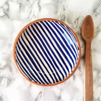 Stripe low bowl