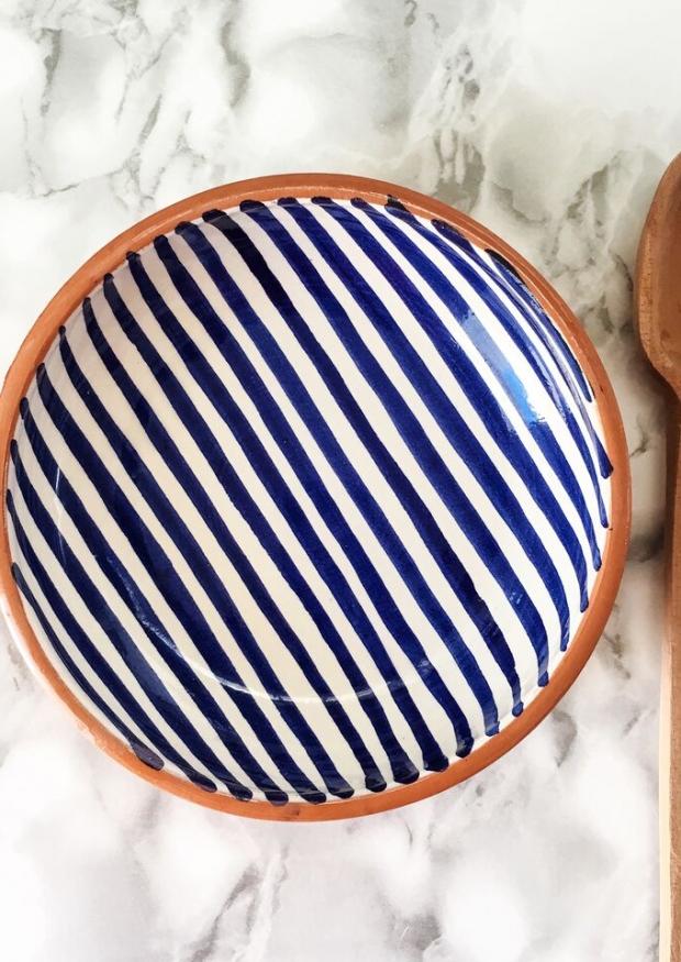 Stripe low bowl