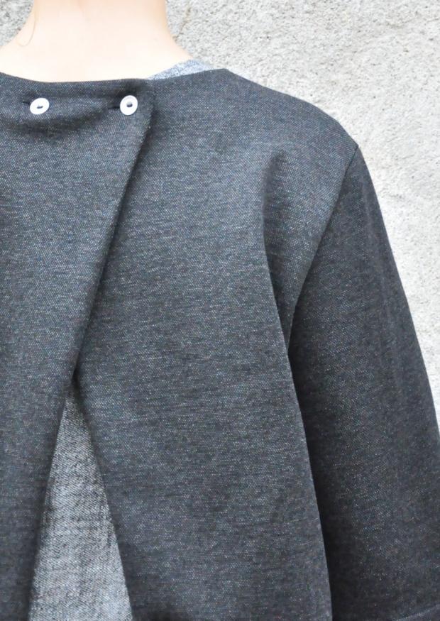 Sur-blouse, lainage chiné