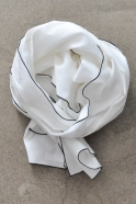 scarf, white linen