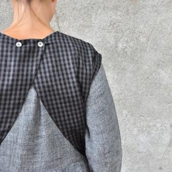 Sur-robe, lainage fin vichy