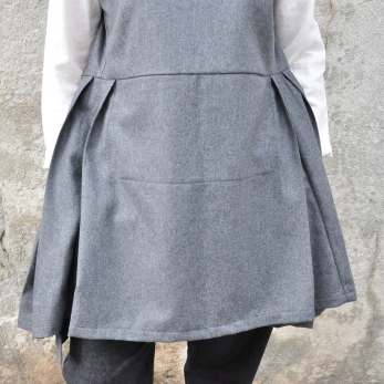 Sur-robe, lainage gris