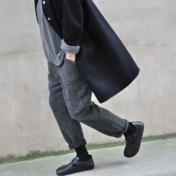 Dress-coat, black wool drap