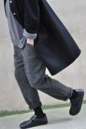 Robe-manteau, drap noir