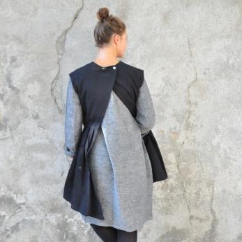 Sur-robe, jean noir