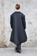 Manteau mixte, drap noir